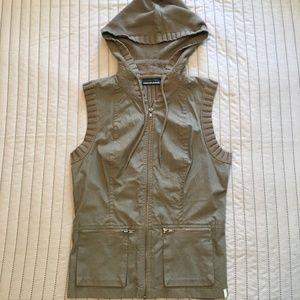 DKNY Jeans Hooded Vest with Pockets size M